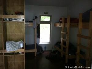 Anchorage Hut bunk room