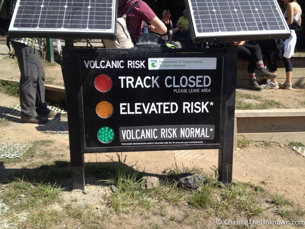 Warnings at the ends of and throughout the track are solar powered.