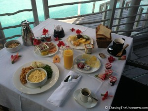 One room service breakfast at the Thalasso could easily become four meals.