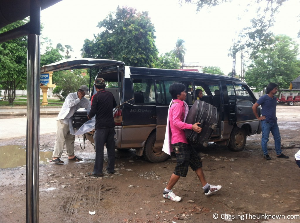 Luckily, not our bus from Battambang to Siem Reap.