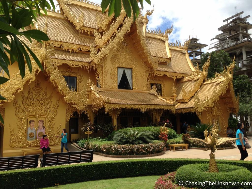The golden bathroom.