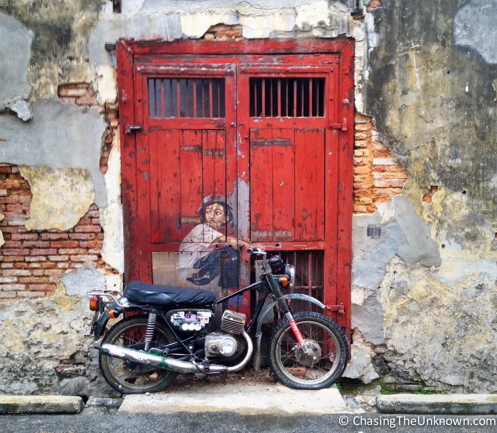 Old Motorcycle Art George Town
