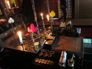 Fire ritual setup