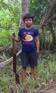 Met this young bird hunter leaving the falls.