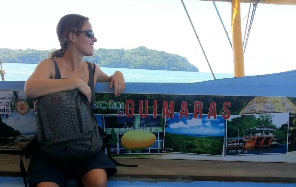The weather leaving Guimaras was sunny and calm.