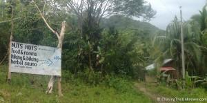 Nuts Huts path halfway Bohol