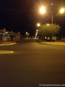 "Empty streets of Kalgoorlie, Australia's ""Gold Capital"""