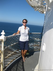 Atop the Cape Leeuwin lighthouse where the Indian and South Oceans meet