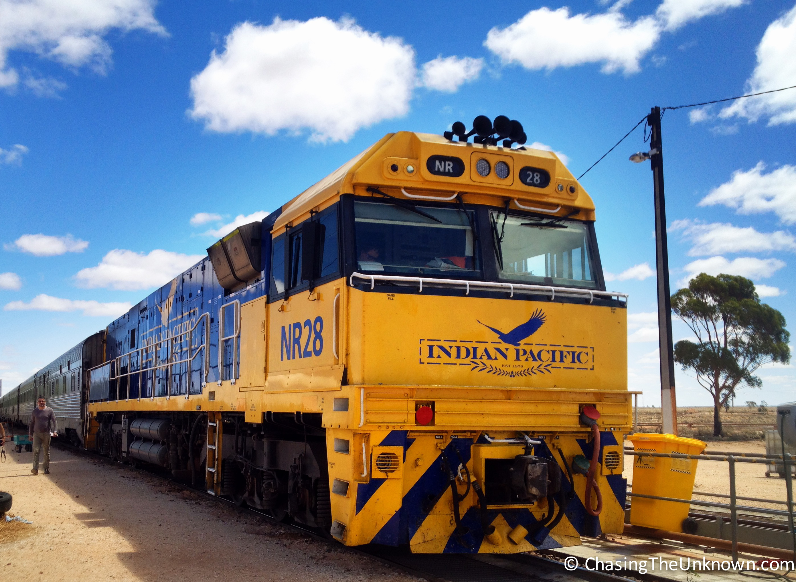 Riding the Indian Pacific from Perth to Adelaide