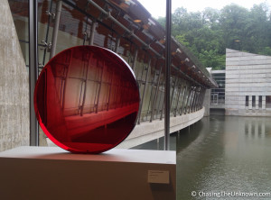 Big Red Lens Crystal Bridges
